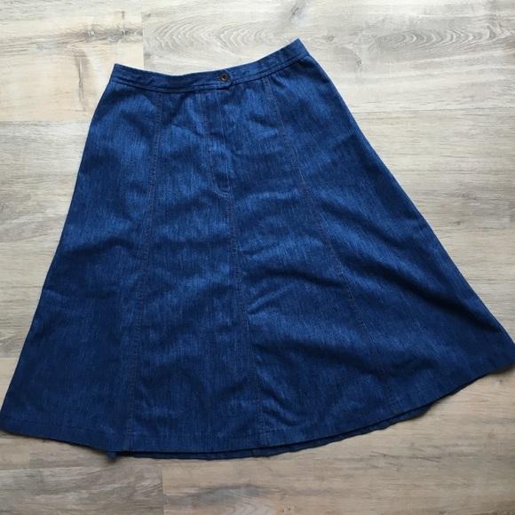 997001796 Koret Skirts | Vintage Long Denim Skirt By | Poshmark